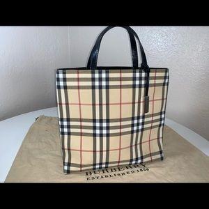 Authentic Burberry nova check shopper tote purse